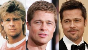 brad pitt plastic surgery before and after photos