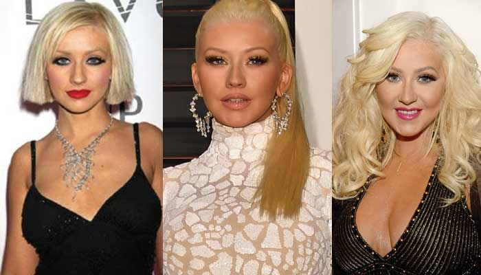 christina aguilera plastic surgery before and after photos 2018