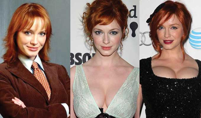 christina hendricks plastic surgery before and after photos 2019